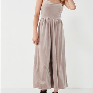 Urban Outfitters Emmabella  velvet jumpsuit NWT